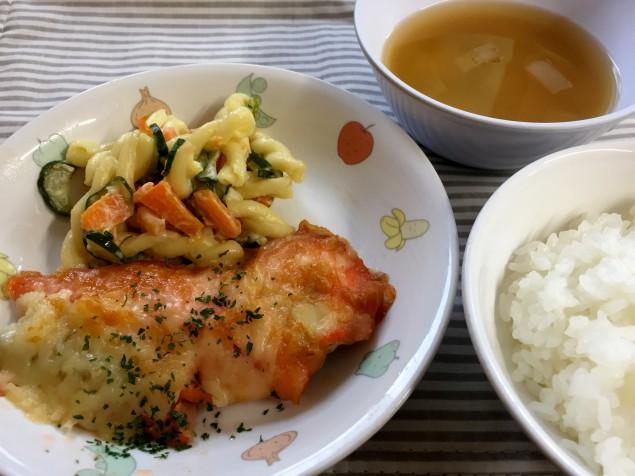 魚のチーズ焼き2018.4