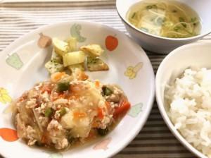 揚げ豆腐の野菜あんかけ2018.11